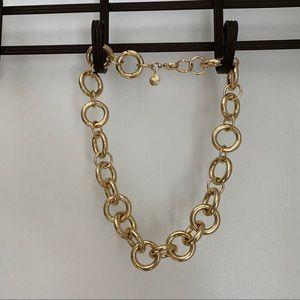 J.Crew chain link statement necklace